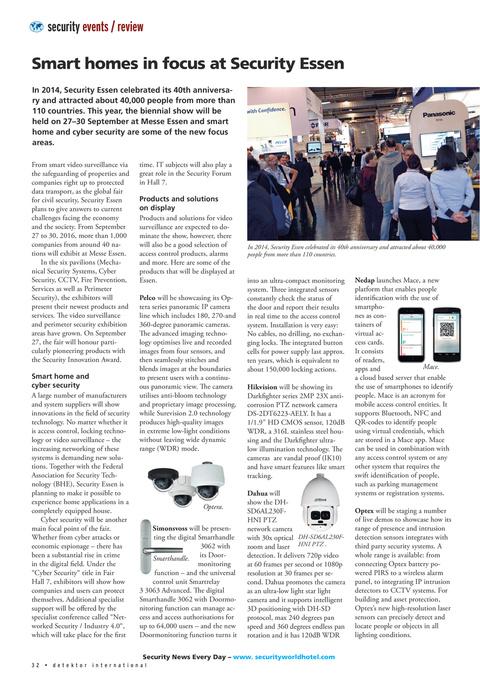 Detektor International No 3 – 2016 Page 32